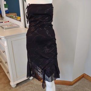 Womens 8 City Triangles dress black sequin